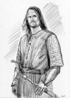 Aragorn Lord of the Rings Sketch Card by Stungeon