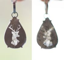 Dendritic Quartz with Deer Silhouette by MirielDesign