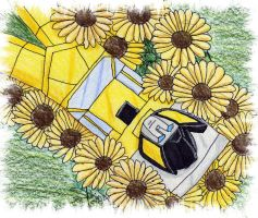 Sunstreaker and Sunflowers by Sphinx47