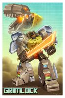 Grimlock Pinup for Botcon 2016 by Teyowisonte