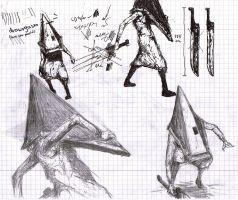 075 - Pyramid Head study by Dalicris