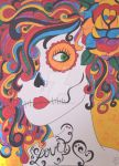 Love Colorful SUgar Skull Girl by ToniTiger415