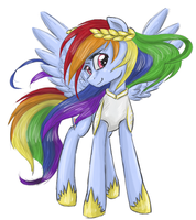 All hail the Rainbow Princess by SilberSternenlicht