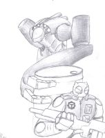 Atomic Robo vs A Very Unnecessarily Large Robot by Matau228