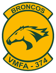 Marine Corps Strike Fighter Squadron 374 Insignia by BlueWolfRanger95