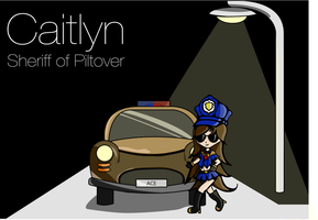 Officer Caitlyn Chibi by Cassaria