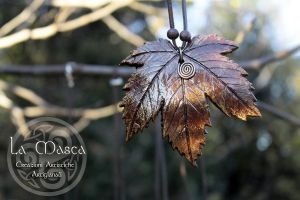 Handmade  Necklace Leaf - Autumn by La-Masca-Handmade