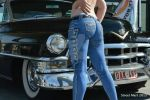 My bum captured in front of a gorgeous Cadillac  by LadyVengeanceModel