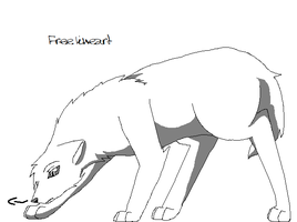 wolf lineart 2 by satme97