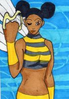 Bumblebee ATC by anne-t-cats
