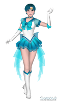 Crystal Sailor Mercury by Iggwilv