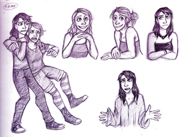 Cheyenne and Veronica sketchbook page by Blairaptor
