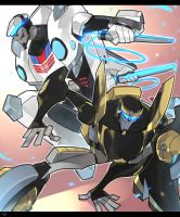 TFA Prowl and Jazz by Tojosaka666