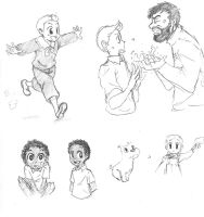 Back with some Tintin doodles by TheFrenchGal