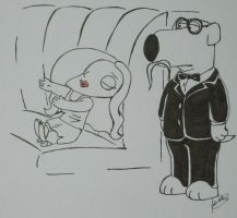 Family Guy: Stewie? and Brian by Vamp-Morningstar