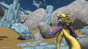Renamon in an unknown world by lycanarius