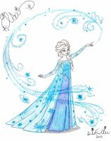 Elsa the Snow Queen: Let It Go by NY-Disney-fan1955