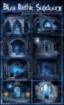 Blue Gothic Sanctuary by KlaraKay