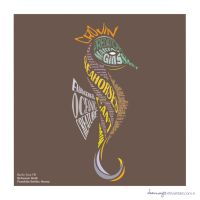 Seahorse Typography by charmay13