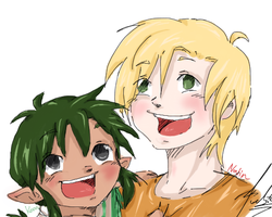 Kiddie Kouru and Nalin by RastaPickney-Juls