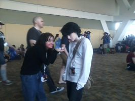 DeathNote Cosplay- L and BB- Want some jam? by Mandychan52