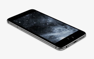 Black-Nebula Wallpaper for iPhone 6 and 6 Plus by kiwimanjaro