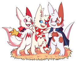 Commish:: Calorin and Co by Pizaru-Chu