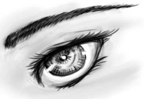 Old Black and White Eye by ZacharyWolf