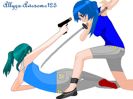 Aki vs Haruna by Allyza-Awesome123
