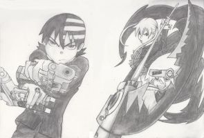 Death the Kid with Maka and Soul by MusicLova4eva