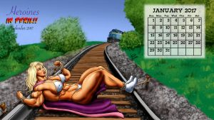 2017 Peril Calendar - January: Satin Steele by DavidCMatthews