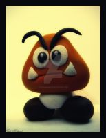 Playdough Goomba by BaselMahmoud