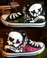 Green Day Rage and Love canvas shoes by Kloofcat