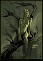 A forest dryad by Tsabo6