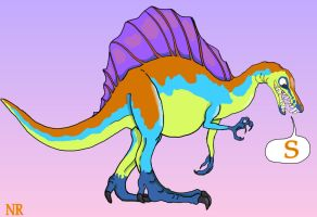 S is for Spinosaurus by MilkToothCuts