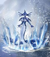 HoMM3 - Ice Elemental by Anzhelee