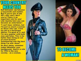 Your Country Needs You to become a Woman: 3 by p-l-richards