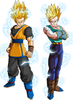 Goken and Nach (Super Saiyan 2) V1 by OWC478