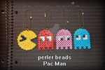 Perler Beads Pac Man keychains by angelicetherreality