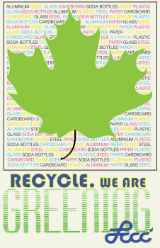 RECYCLE.  We are GREENING LCCC.  (leaf) by SongAndSerenity