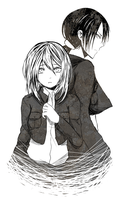 Ymir and Christa Sketch by Pupinta