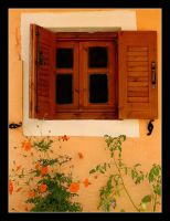 Window And Flowers - Corfu by skarzynscy