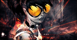 Flame girl by LukeIV