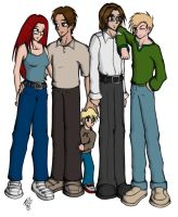 lil sam et family finished by piig