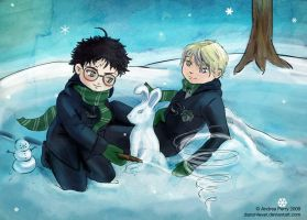 Best buds Harry and Malfoy by danzr4ever