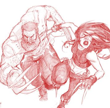 Logan and Laura Rough by MeaT-Artworx