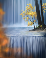 Landscape Study - waterfall I by vixentheangryfox