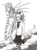 REM and Misa Amane sketch by yalchinosis