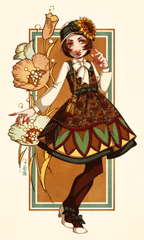 The Sunflower Dress by Seitou