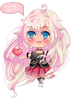 IA 'Thank You' Chibi by KyouKaraa